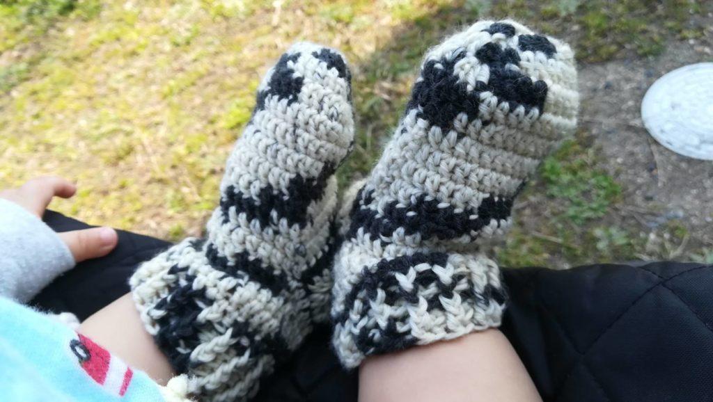 手編みくつした
